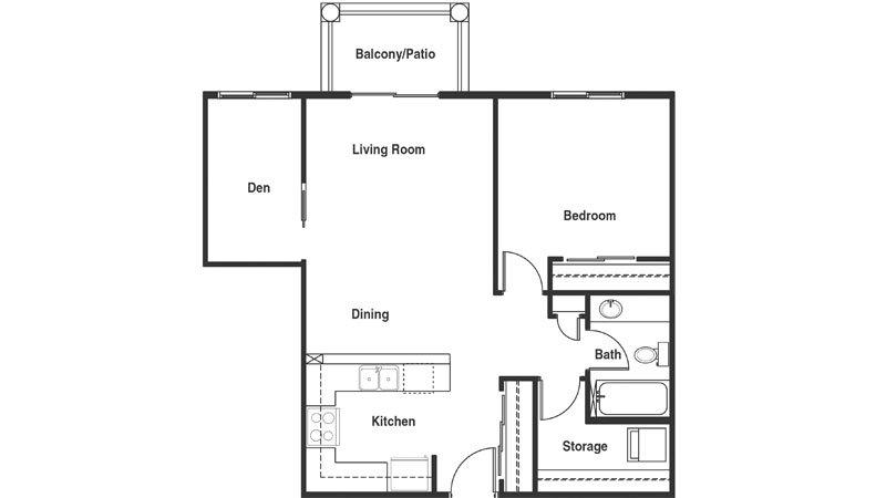 1 Bedroom Suite W Den Type 1c Cambridge North American Leaseholds